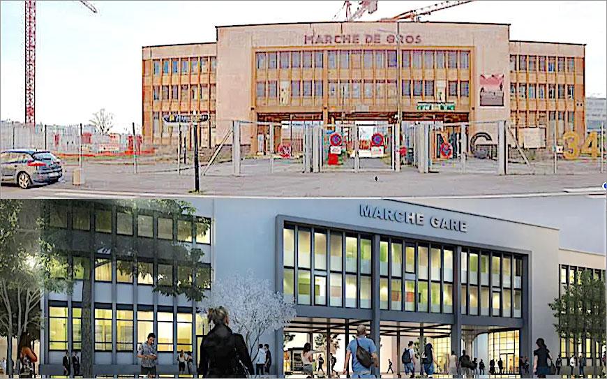 Lyon-Confluence : le bâtiment le plus emblématique de l'ex-marché-gare confirmé dans son rôle de salle de spectacle
