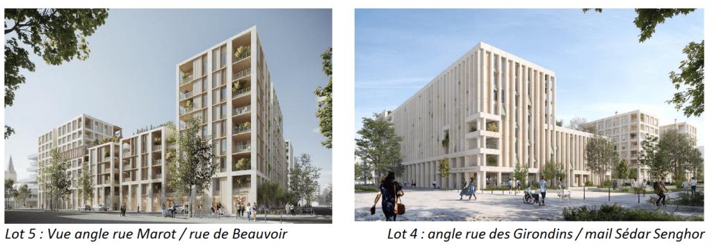 L'équipe chargée des derniers immeubles (22 000 m2) de la ZAC des Girondins dans le quartier de Gerland à Lyon, désignée