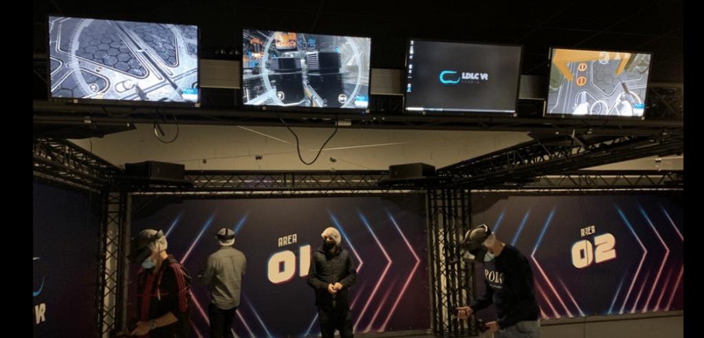 A destination des particuliers, mais aussi des entreprises : le groupe LDLC ouvre à Dardilly une salle  de 300  m² dédiée à la réalité virtuelle