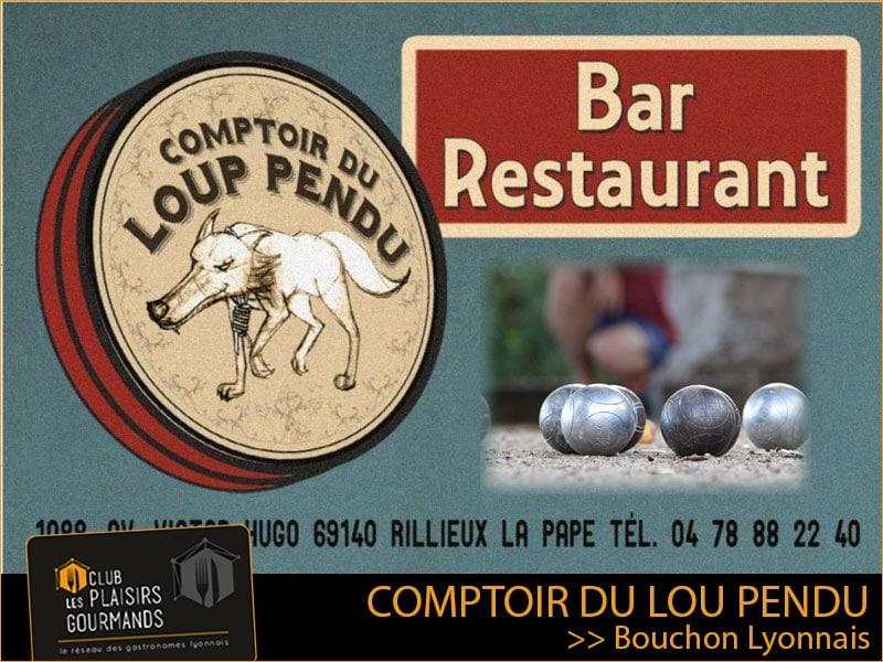 Merc 28 Juillet : pétanque et 28ème déjeuner du Club au Comptoir du Lou Pendu [Club Les Plaisirs Gourmands]