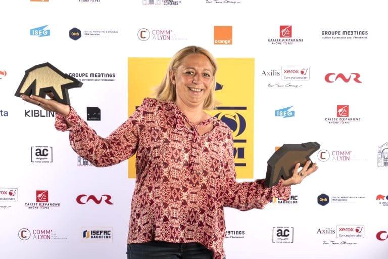 Marion LefebvreChereuldes Hospices Civils de Lyonreçoit le prix de la meilleure directrice de la communication 2020