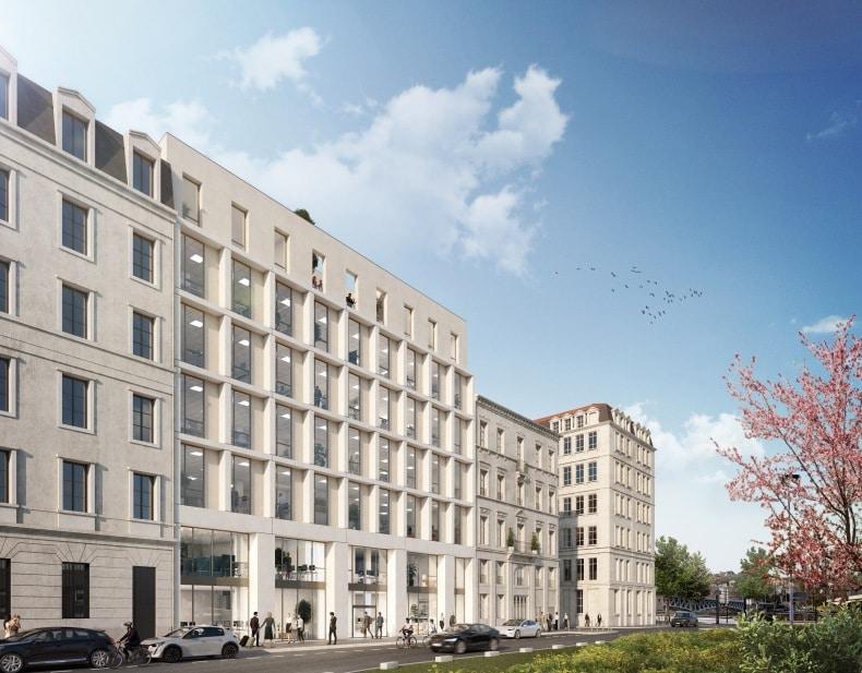 """Le """"Flow"""" : la construction d'un immeuble de bureaux de 3 750  m² lancée dans le quartier Perrache à Lyon"""