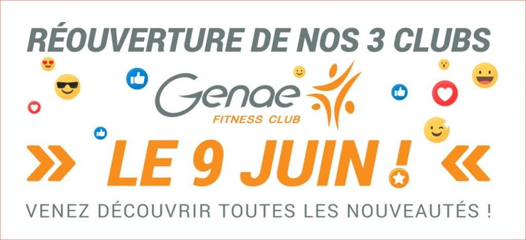 Mercredi 9 Juin : Genae, 3 clubs de sport innovants (ré)ouvrent leurs portes.
