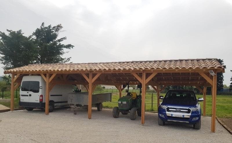abri a structure bois pour professionnel
