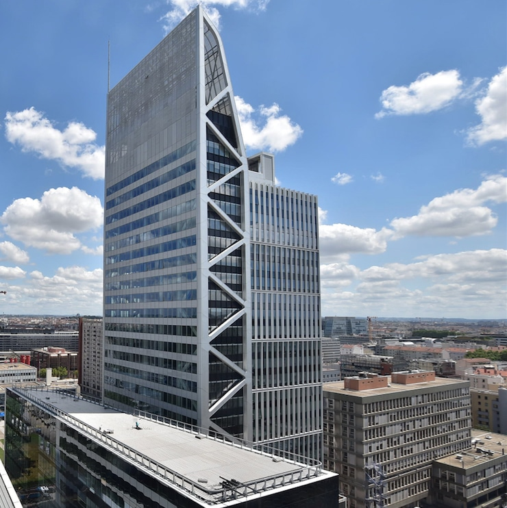 La tour Silex² (130 mètres de hauteur) à Lyon Part-Dieu a été livrée : elle va accueillir 2 500 personnes