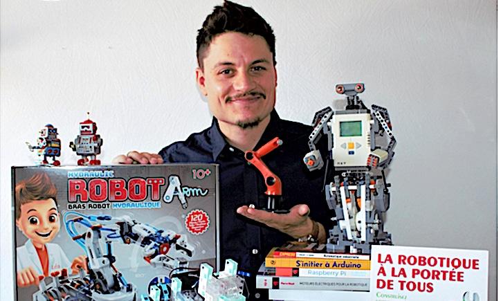 Leo-Pol Watrin, créateur de Leobotics s'apprête à ouvrir la 1ère boutique de vente de robots à Lyon
