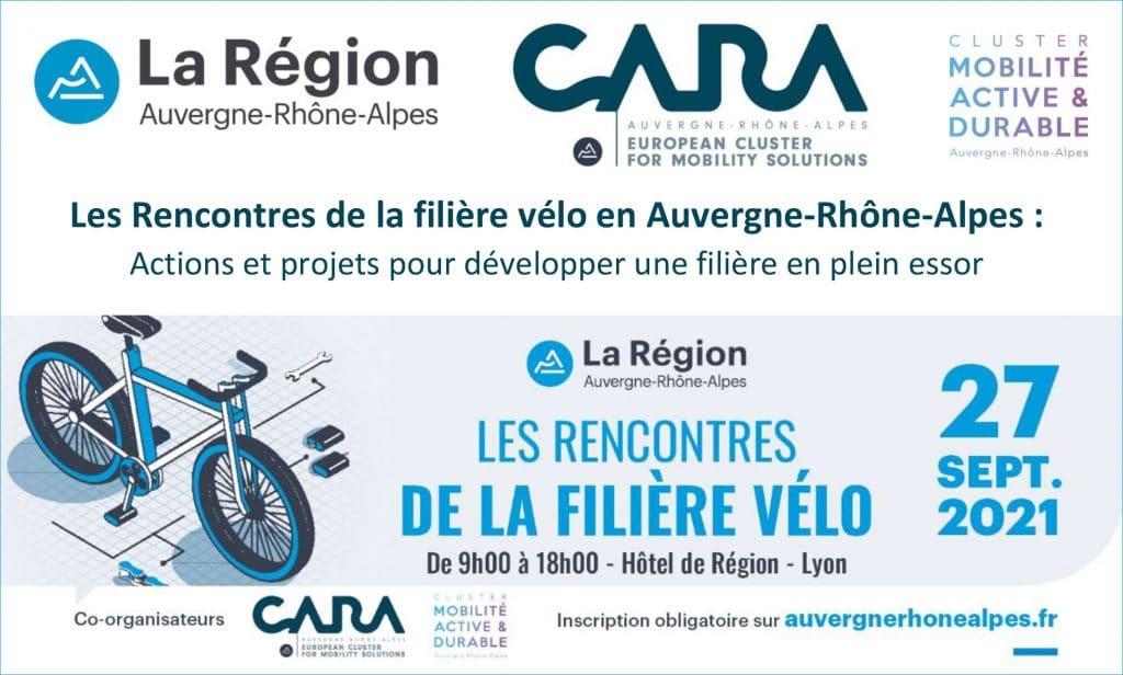 Les Rencontres de la filière vélo en Auvergne-Rhône-Alpes [27 Sept 2021 – Hôtel de Région Lyon]