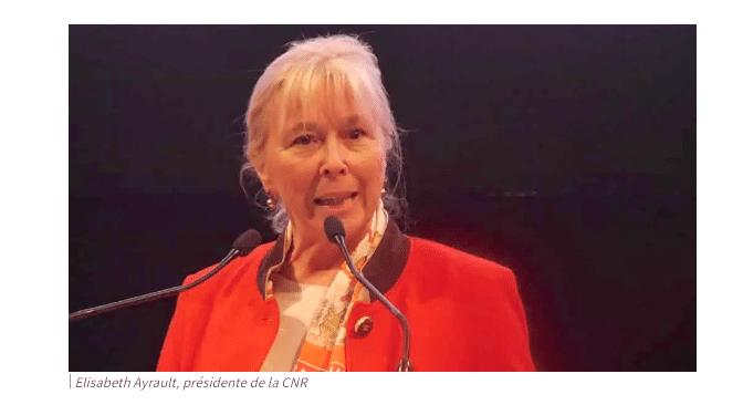 Elisabeth Ayrault,  contrainte de quitter la présidence de la CNR, alors que l'on attend le renouvellement de la concession