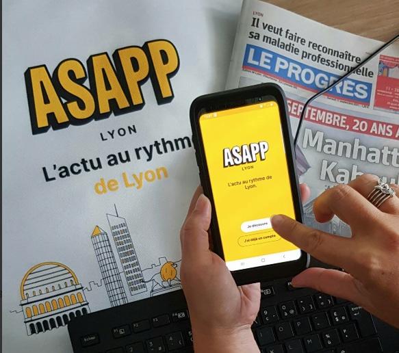 """A la traîne dans le numérique, le Progrès veut rattraper son retard avec l'appli """"Asapp""""  (4,99 euros par mois)"""