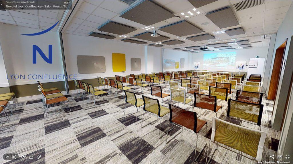 Offre MICE Novotel Lyon Confluence : visite virtuelle du Salon Presqu'île