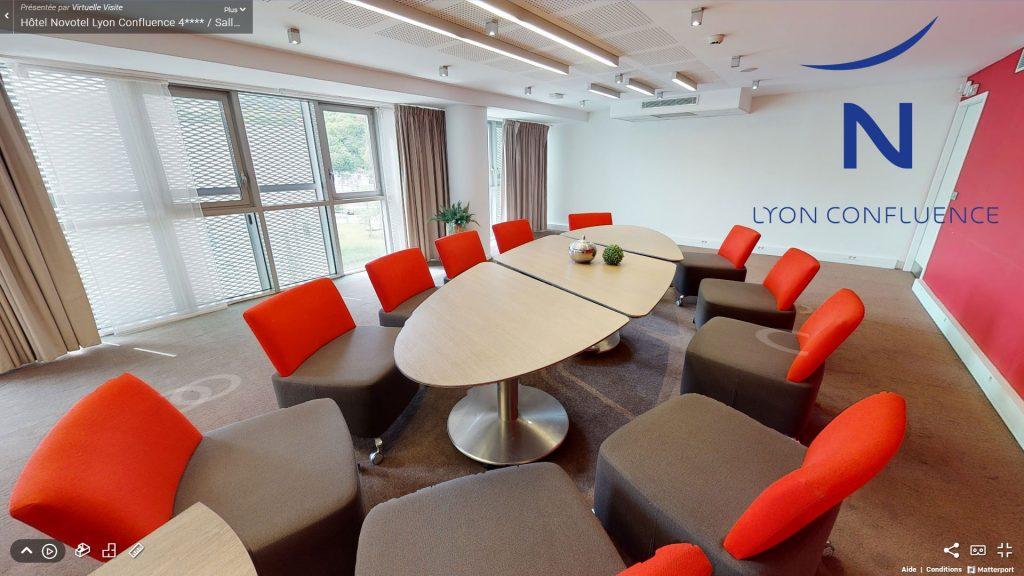 Visite virtuelle des Salles de réunion EUREKA – Offre MICE Novotel Lyon Confluence