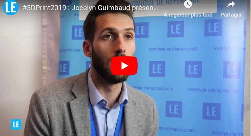 3D Print 2019 : Jocelyn Guimbaud présente Allizé-Plasturgie
