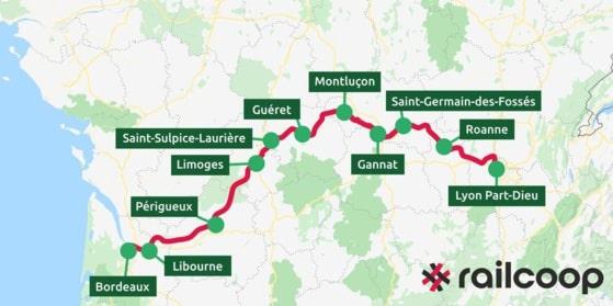 La coopérative ferroviaire Railcoop veut relancer la ligne Lyon-Bordeaux en 6 h 47, abandonnée par la SNCF