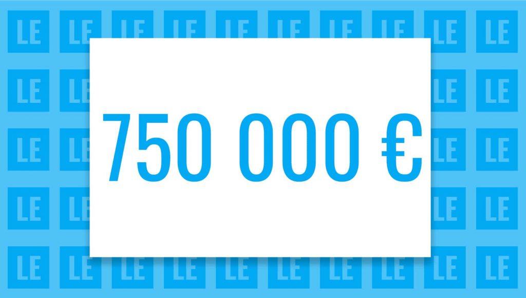750 000 euros