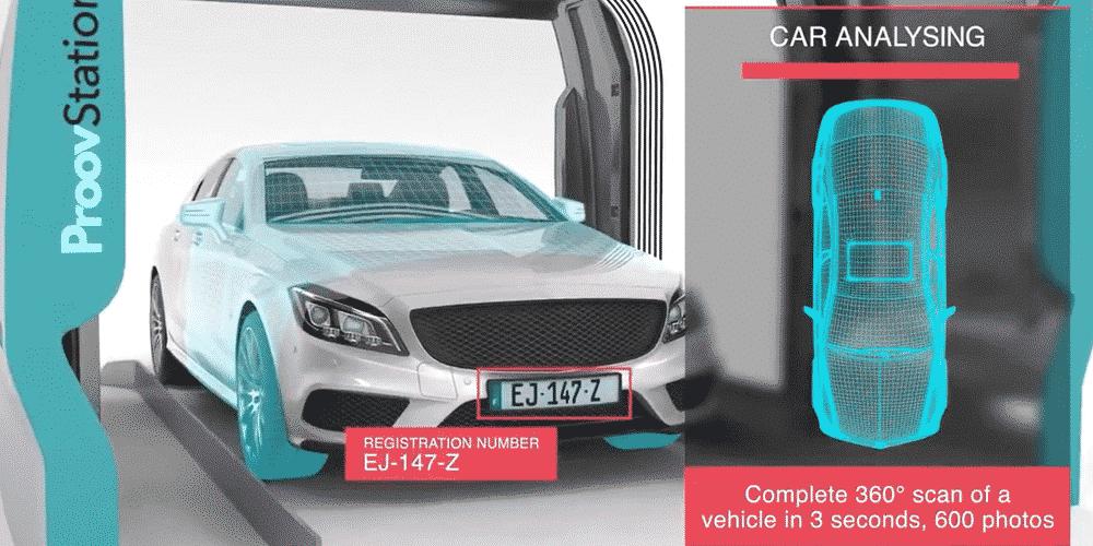 Grâce à l'Intelligence Artificielle, la start-up lyonnaise ProovStation inspecte intégralement les véhicules en…quelques secondes