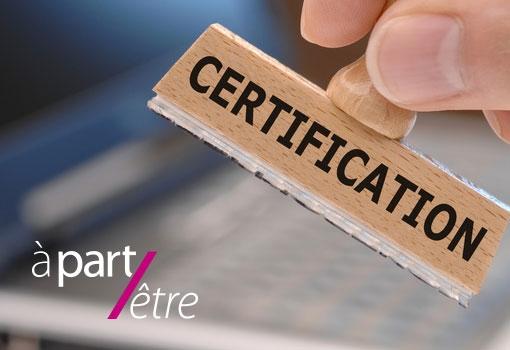 A Part Etre renouvelle sa certification au RNCP 'conseil en communication et image'