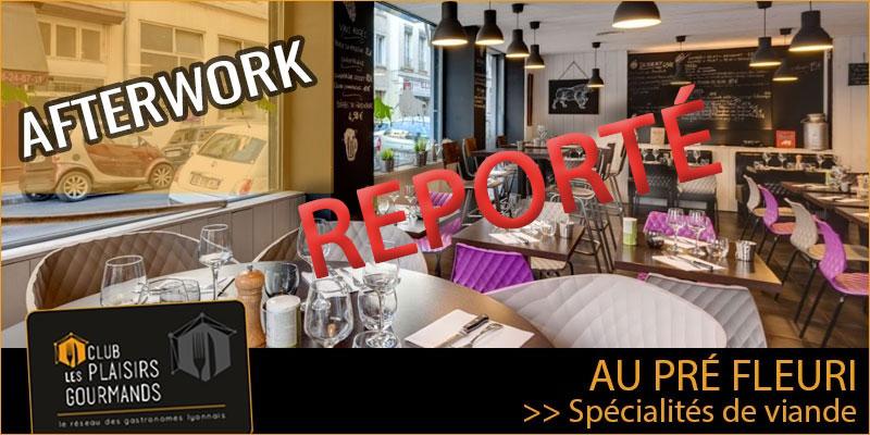 1er Afterwork du Club Plaisirs Gourmands au restaurant Le Pré Fleuri