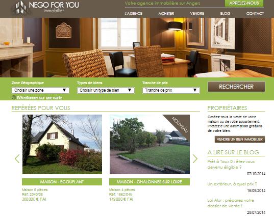 Agence immobilière à Angers