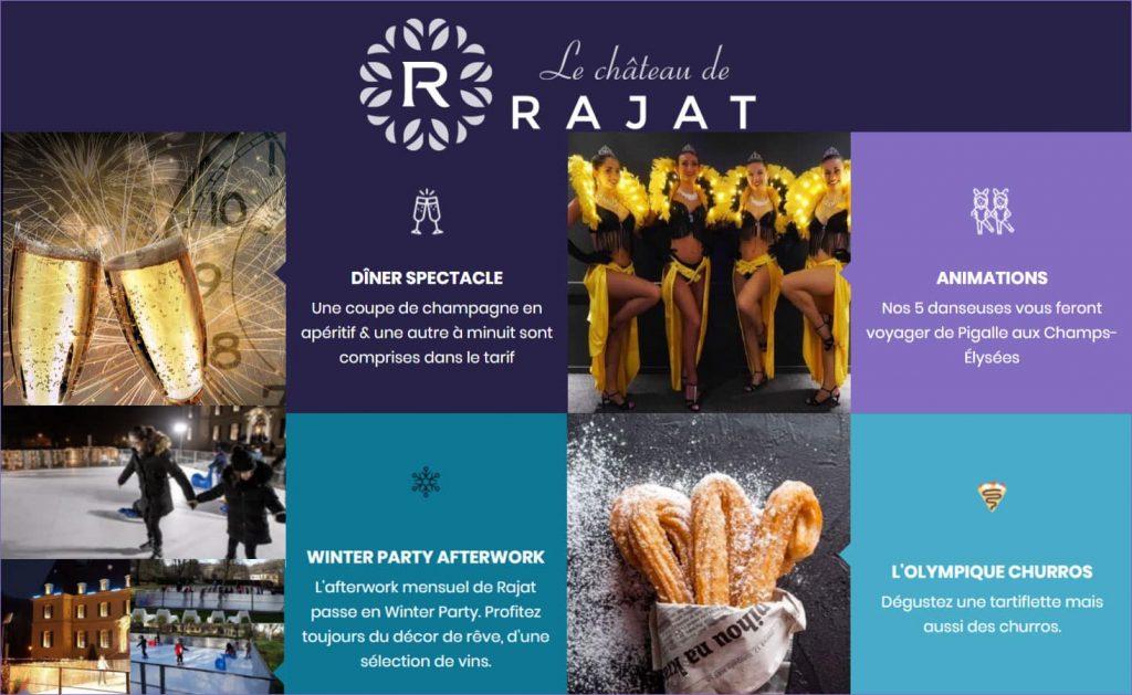 Le Château de Rajat un lieu féerique pour des Fêtes de fin d'année à Lyon !
