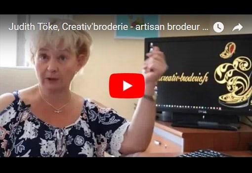 Artisan brodeur, un métier passion raconté par Judith Töke