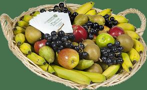 Corbeille de fruits d'automne à grignoter en entreprise