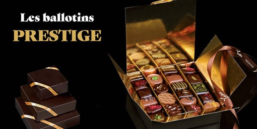 Ballotins PRESTIGE - Cadeau d'affaires Chocolatier Voisin
