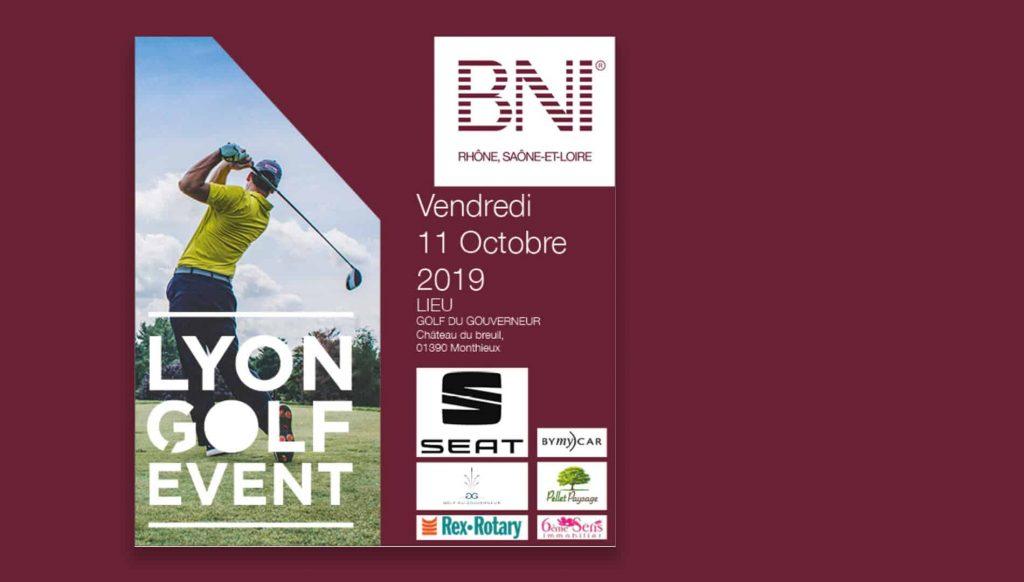 ÉVÉNEMENT : BNI Lyon Golf Event, 11 Octobre 2019