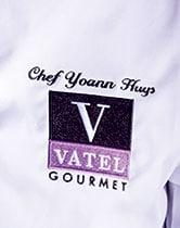 Détail de la broderie VATEL Goumet