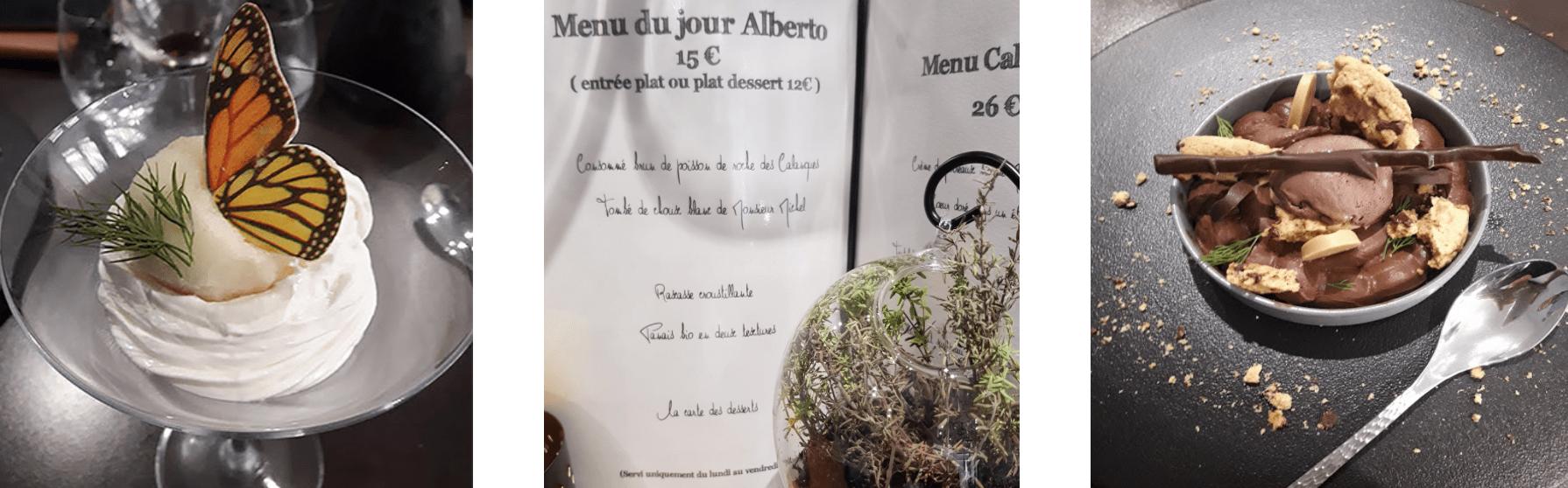 Plats et menu du Saint Roch