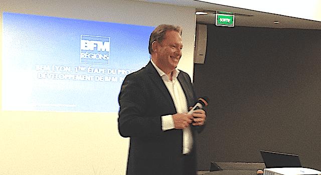 Lancement de BFM Lyon, le 3 septembre : objectif visé, 100 000 téléspectateurs