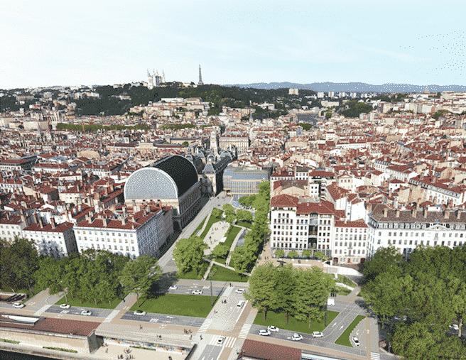 Miroir d'eau, 60 arbres, etc. : coup de vert annoncé sur les places Louis Pradel et Tolozan à Lyon