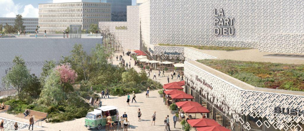 Les travaux du centre commercial de la Part-Dieu terminés à la mi-2020 :  25 restaurants sur toit, 40 boutiques et 900 emplois de plus…