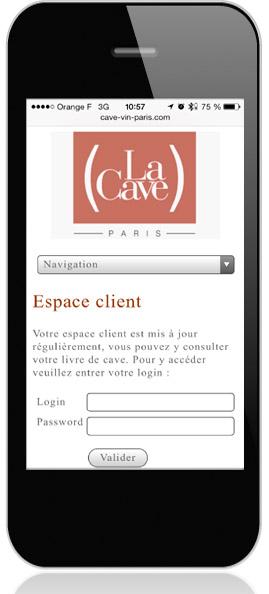 La Cave Lyon, application smartphone et tablette