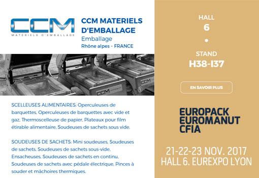 CCM Emballages est sur EUROPACK EUROMANUT CFIA 2017