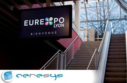 CERESYS équipe Eurexpo en signalétique dynamique