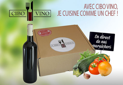 CiboVino met en boite les accords mets & vins et vous les livre en coffrets !