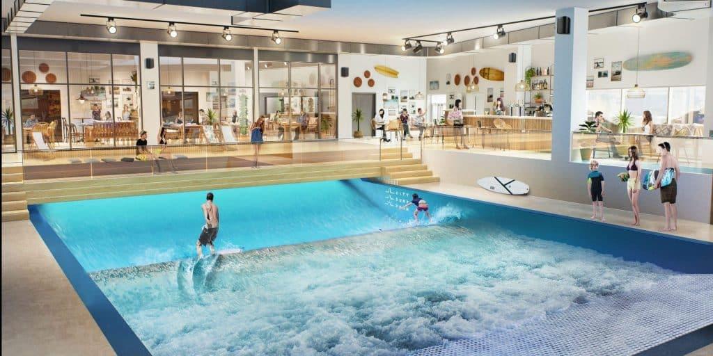 Situé près du Groupama Stadium, le 1er Surf parc urbain lyonnais entend développer ses vagues dans toute la France