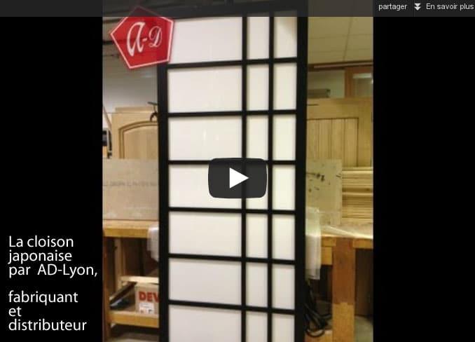 Cloison et porte japonaise – de la fabrication à la pose