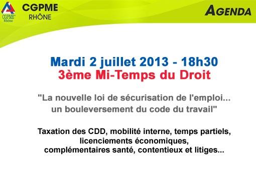 Conférence CGPME : Nouvelle loi de sécurisation du travail et conséquences sociales pour les PME