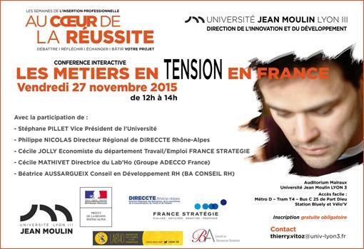 Conférence interactive Lyon 3 : Les métiers en Tension en France