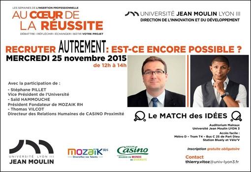 """Conférence interactive Lyon 3 """"Recruter autrement : est-ce encore possible"""""""