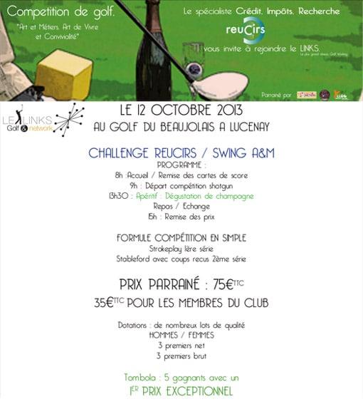 Affiche Challenge de Golf Reucirs au Golf du Beaujolais de Lucenay