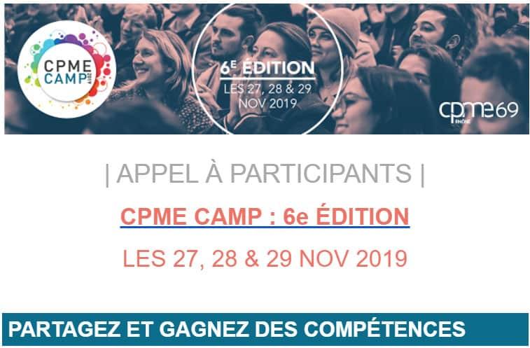 CPME CAMP 2019 > APPEL À PARTICIPANTS rejoignez une équipe projet les 27, 28, 29 NOV