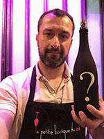 David de La Petite boutique du Vin propose des dégustations