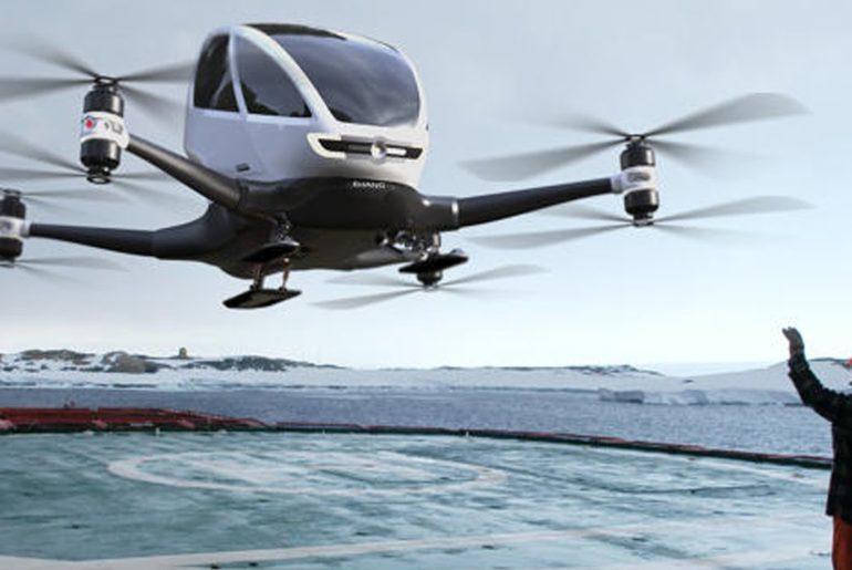 Des drones-taxis prochainement dans le ciel lyonnais? Le Chinois Ehang choisit Lyon pour installer son centre de R&D