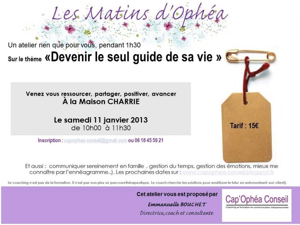 """Développez votre capital motivation pour 2014 avec l'atelier """"Devenir le SEUL guide de sa vie"""" à Lyon"""