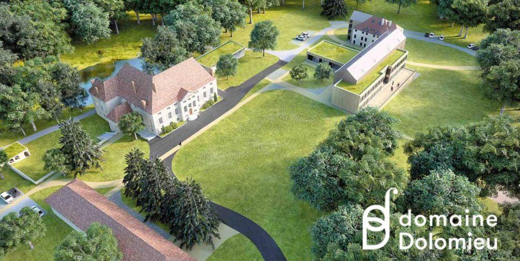 Vue aérienne 3D du Domaine Dolomieu