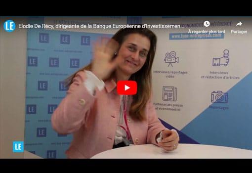 Elodie De RECY finance les Entreprises DU FUTUR avec la Banque Européenne d'Investissement