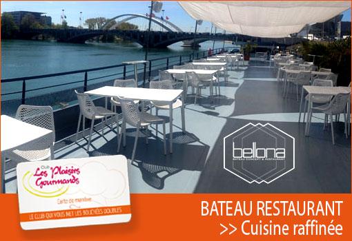 Embarquez à bord du bateau restaurant Le Bellona pour le 92ème Déjeuner Network [Jeudi 20 septembre]