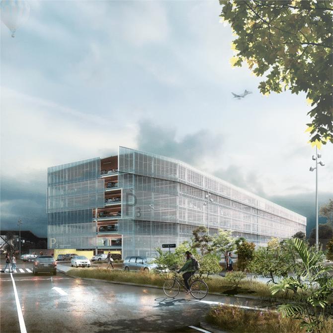 En lieu et place de l'actuel P3: un nouveau parking aérien de 2 000 places lancé à Lyon-Saint-Exupéry